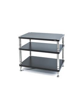 "SolidSteel HY-3L Three Shelf Wide Rack 26"" Flat Black"