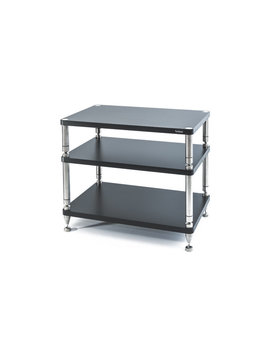"SolidSteel HW-3L Three Shelf Wide Rack 24.4"" Gloss Black"