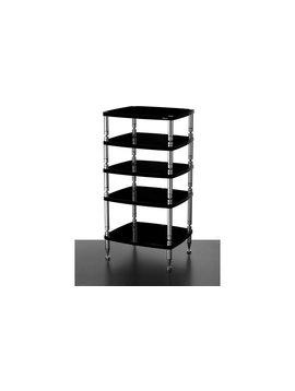 "SolidSteel HF-5 - Five Shelf Audio Rack Gloss Black 39.8"""