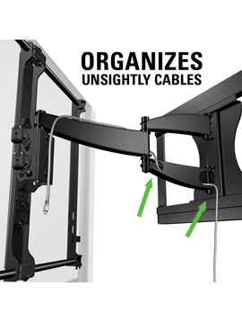 """Sanus Full Motion Mount with Cable Management, TV's from 27"""" - 55"""""""