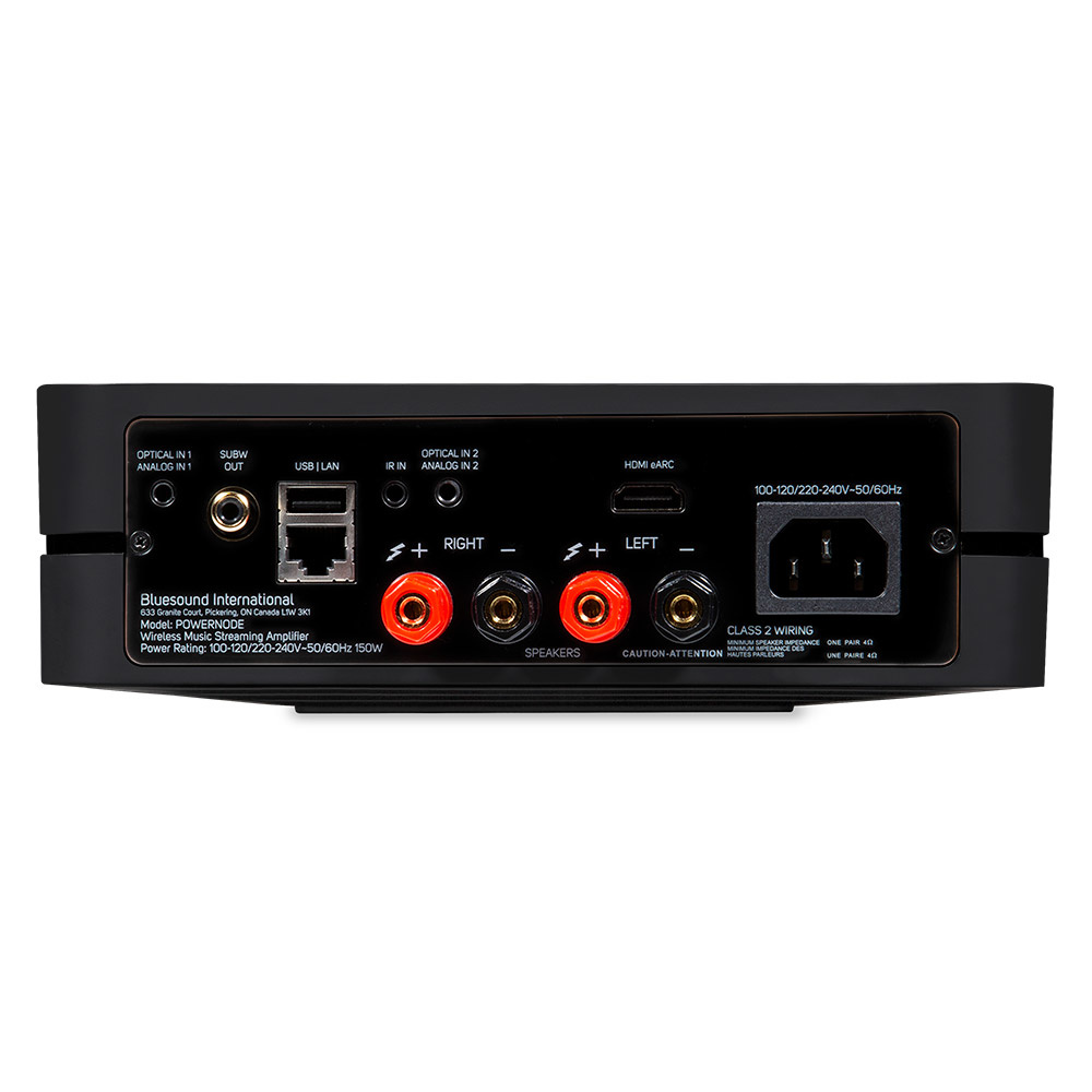 Bluesound Powernode Wireless Multi-Room Hi-Res Music Streaming Amplifier , Gen 3 Latest Model !