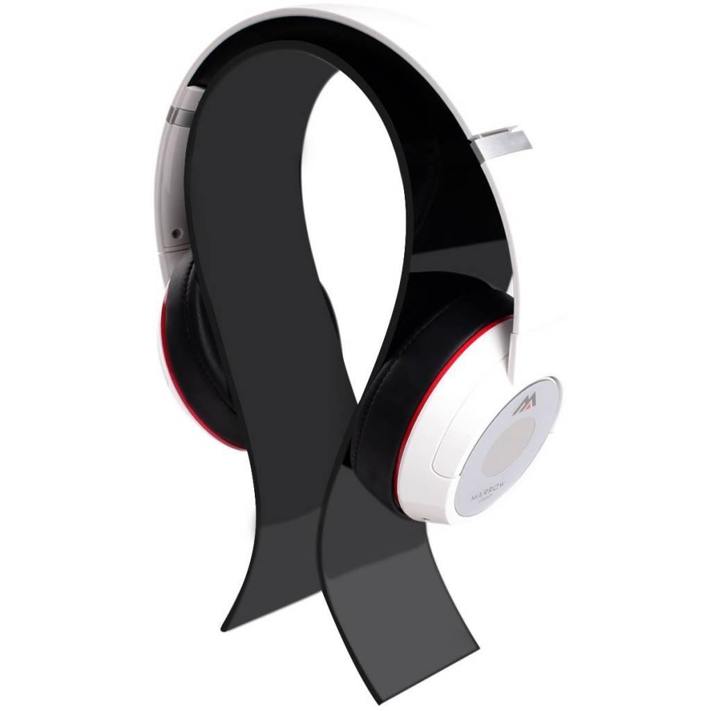 AmoVee Acrylic Headphone Stand, Black