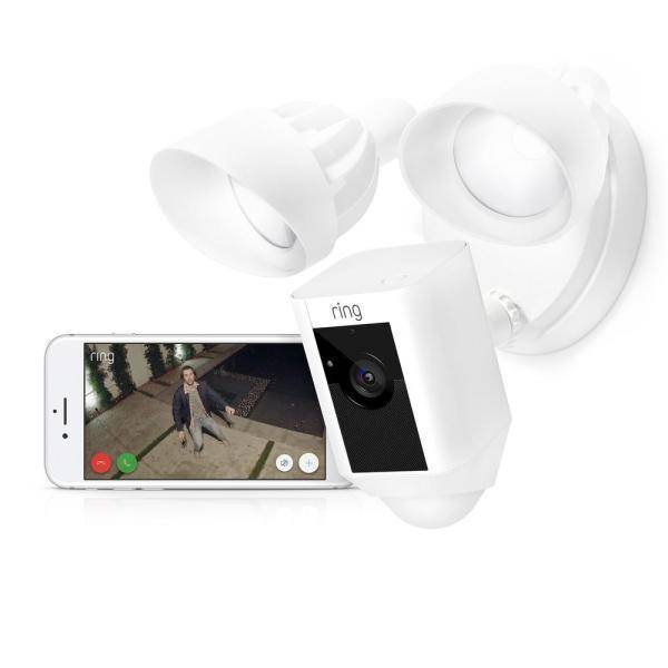 Ring Floodlight Camera with Siren & Two-Way Talk