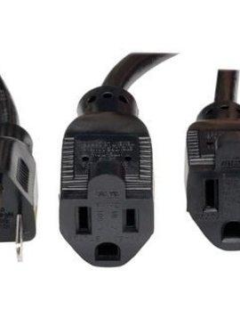 Calrad Calrad 18'' Male to Dual Female Power Extension Cord
