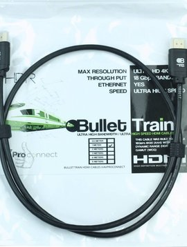 AV Pro Edge Bullet Train Ultra HD 4K 60Hz 18Gbps HDMI Jumper Cable