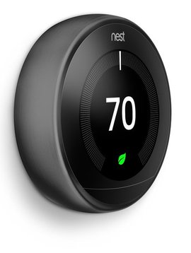 Nest Learning Thermostat, Carbon Black