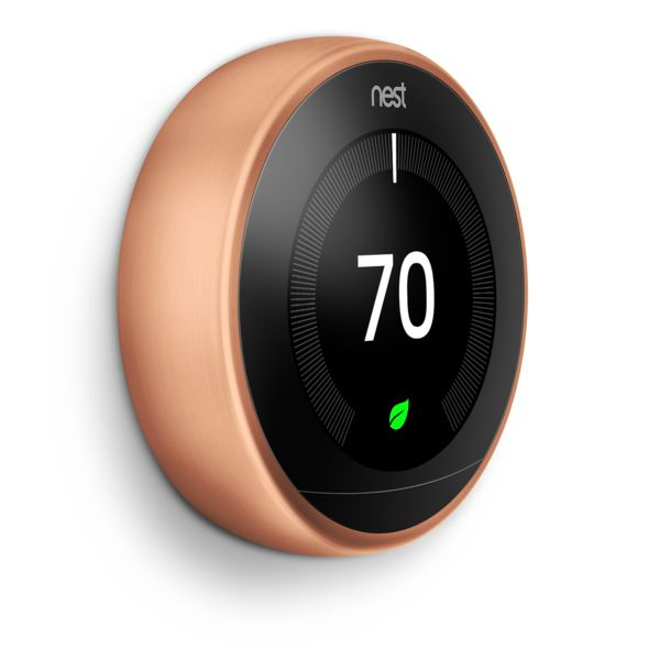 Nest Learning Thermostat 3rd. Gen, Copper, T3021US