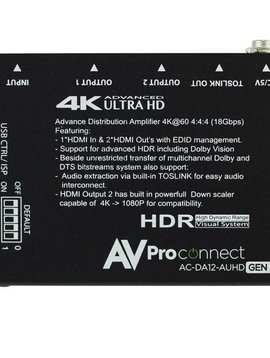 AV Pro Edge 4K 1 x 2 AUHD HDMI Distribution Amplifier