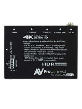 AVPro Edge 4K 1 x 2 AUHD HDMI Distribution Amplifier