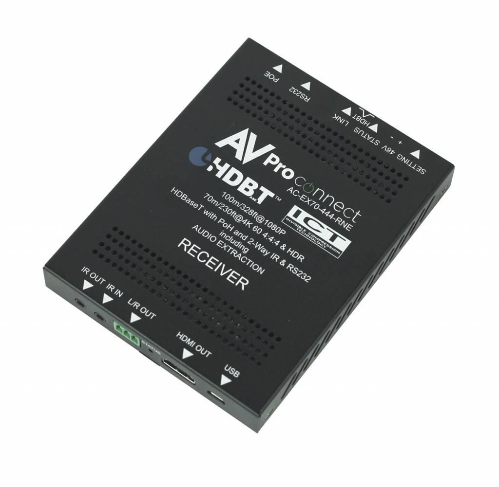 AV Pro Edge 70 Meter 4K HDMI Receiver via HDBaseT with HDR, AC-EX70-444-RNE