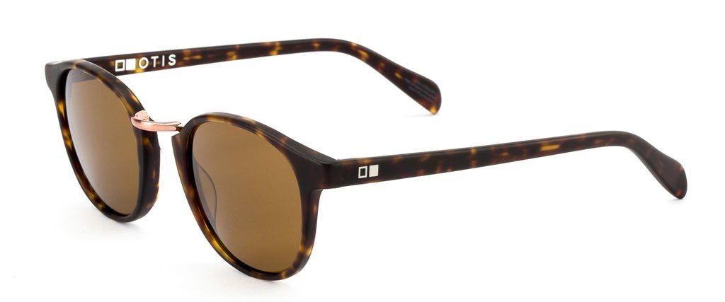 Otis Eyewear Otis Eyewear A Day Late Matte Dark Tortoise Frames Brown Polarized Lens Sunglasses