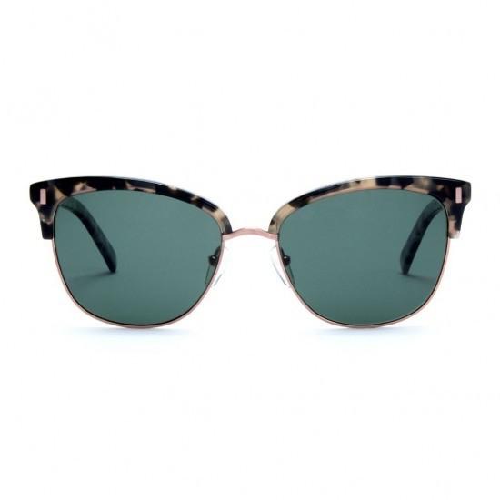 Otis Eyewear Otis Eyewear Little Lies Black Tortoise Frames Grey Polarized Lens Sunglasses