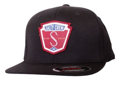 Salty Crew Salty Crew Flybridge Flexfit Hat Black Surfing