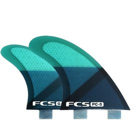 FCS FCS PC5 Quad Set Blue Smoke Medium 4 Surfboard Fins