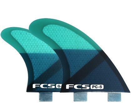 FCS FCS FCS Q-PC5 Quad Set Medium 4 Surfboard Fins