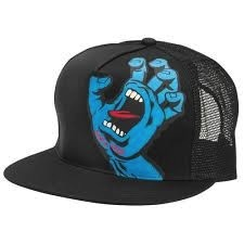 Skate Santa Cruz Screaming Hand Trucker Mesh Hat Black