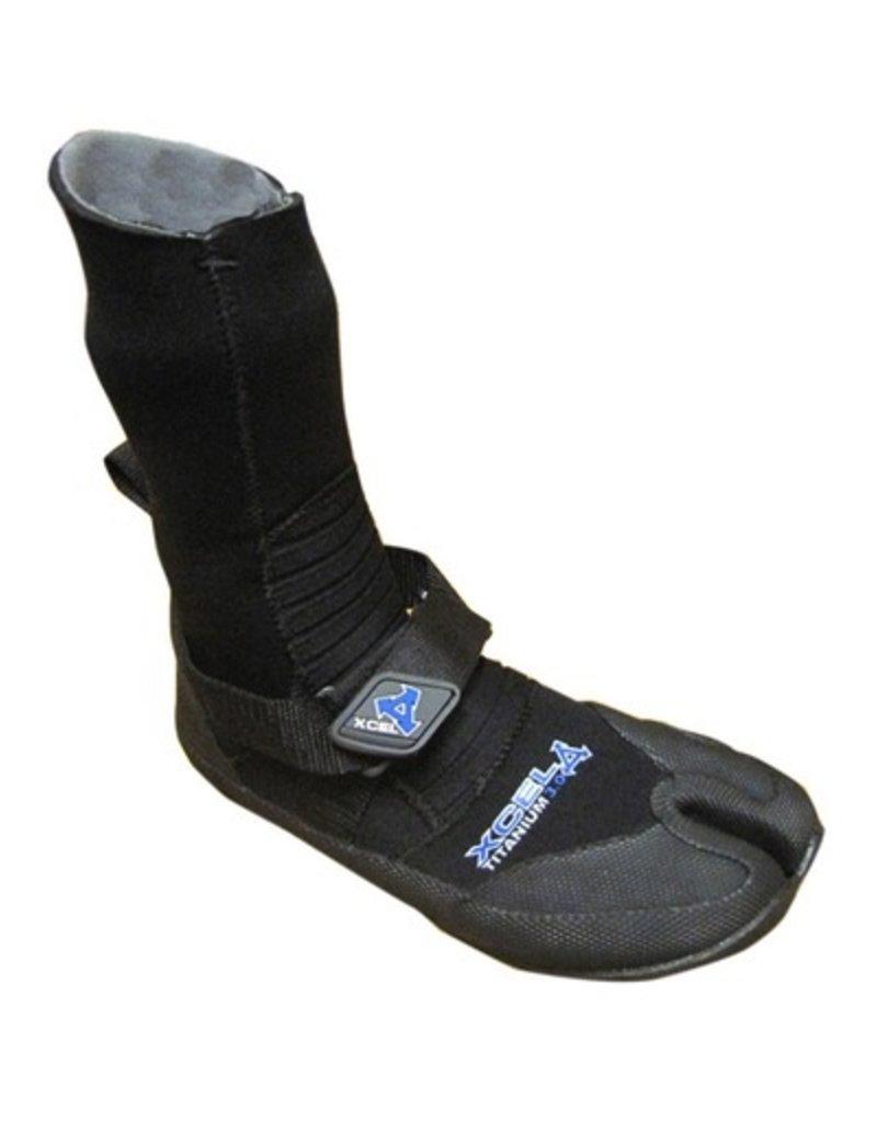 XCEL Xcel Booties Titanium 3mm Split Toe Black Size 5