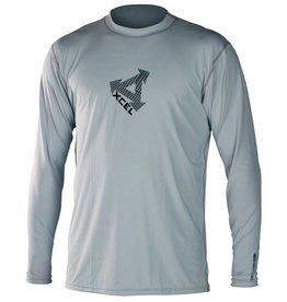 Xcel Hybrid Ventx Rashguard Long Sleeve Mens Size S Grey UV Protection Surfing