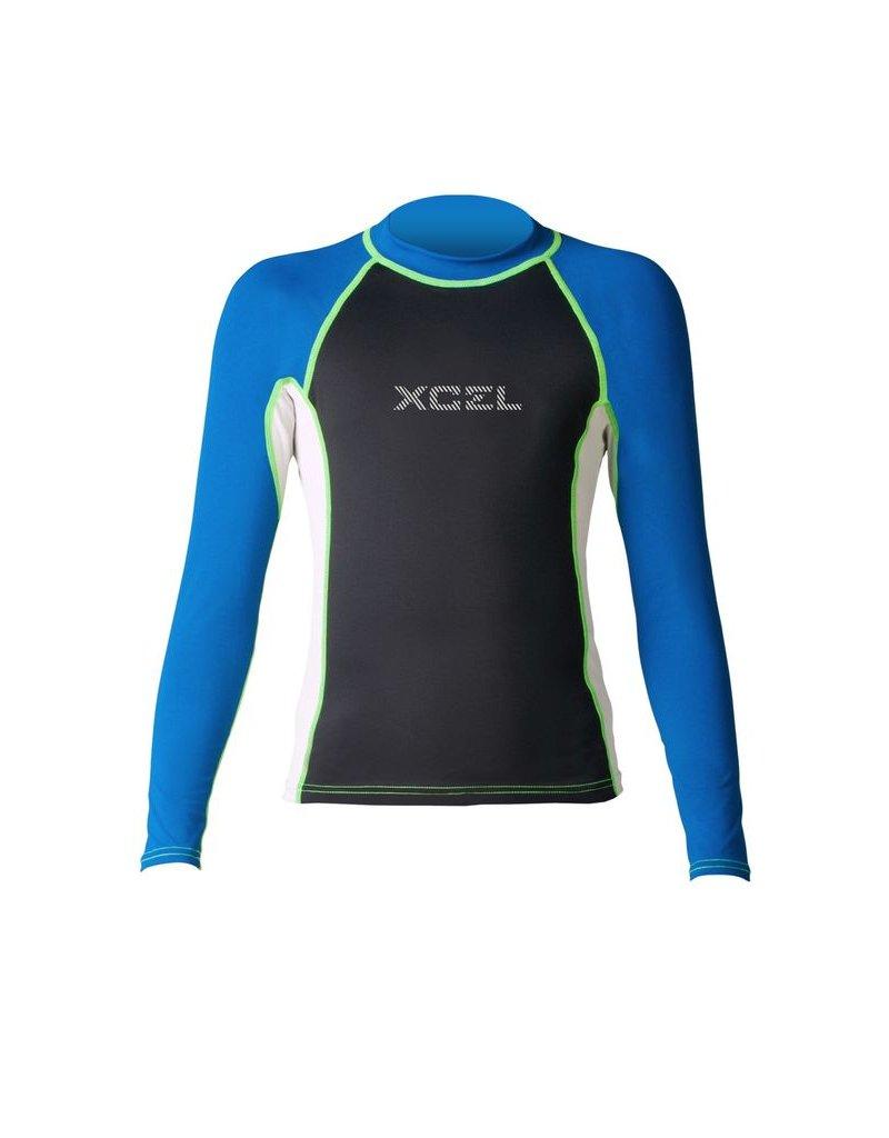 XCEL XCEL BOY'S KAISERS PREMIUM 6OZ L/S UV RASHGUARD