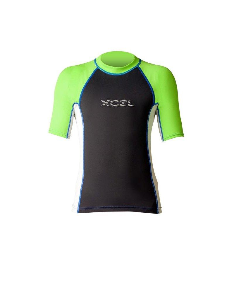 XCEL XCEL BOY'S KAISERS PREIUM 6OZ S/S UV RASHGUARD