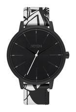 Nixon Nixon Kensington Leather Watch Black / Beach