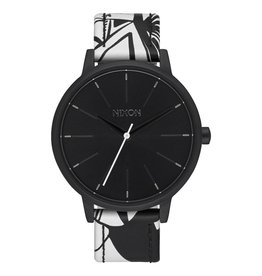 Nixon Nixon Kensington Leather Watch Black / Beach