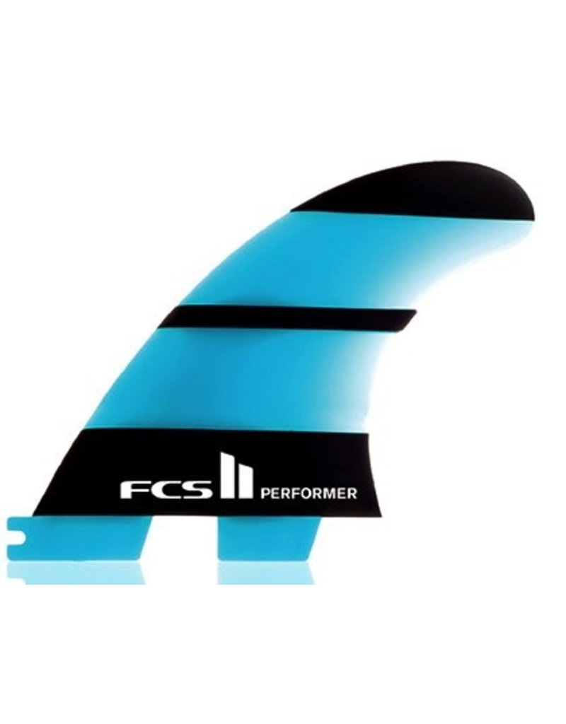 FCS FCS II Performer Neo Glass Tri Set Large Thruster Surfboard Fins