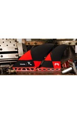 Futures Fins Futures Fins Seaworthy Quad Honeycomb Red/Black Checks Surfboard Fins Lost