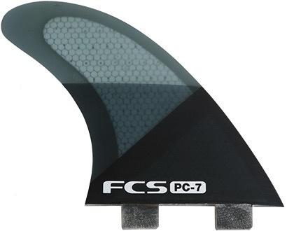 FCS FCS PC-7 Tri Set Large Orange Smoke Thruster Surfboard Fins