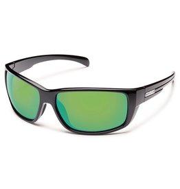 Suncloud Suncloud Milestone Sunglasses Frame Black Lens Green Mirror Polarized Polycarbonate