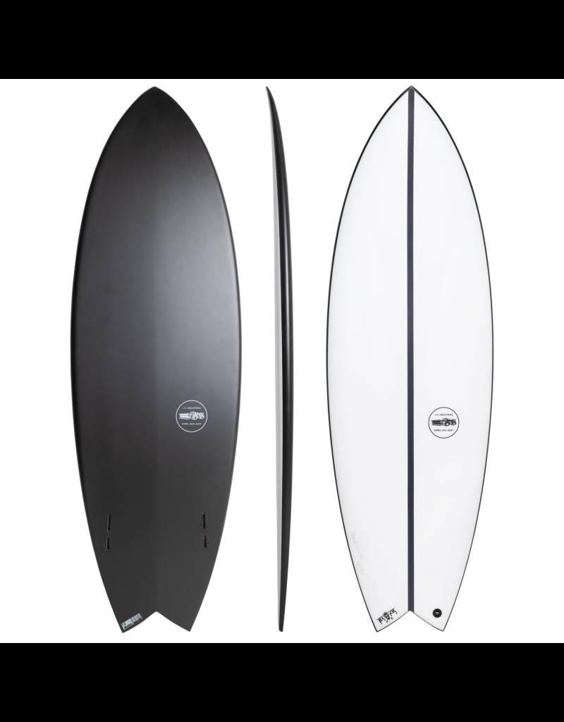 "JS Industries JS Surfboards Black Baron EPS Twin Fin 5'8"" x 20 1/4"" x 2 1/2"" x 31.7 Litres FCS II Shortboard"