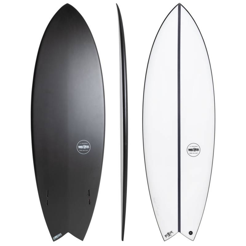 "JS Industries JS Surfboards Black Baron EPS Twin Fin 5'8"" x 20 1/4"" x 2 1/2"" x 31.7 Litres FCS II Shortboard"