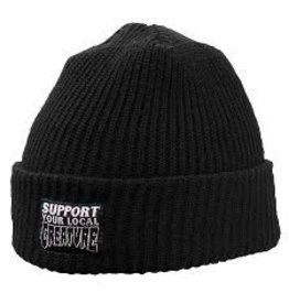 Skate Creature Support Long Shoreman Beanie Black
