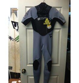 XCEL Xcel Infiniti Short Sleeve X Zip 2.0 Front Zip Grey Black Size XS Wetsuit