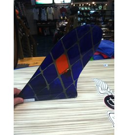 """RDI USED RFC Rainbow Longboard Fin Quintal Blue 10"""" Stained Glass Was $116.00 NOW $58.00"""