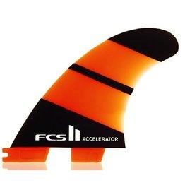 FCS FCS II Accelerator Neo Glass Tri Set Medium Thruster Surfboard Fins