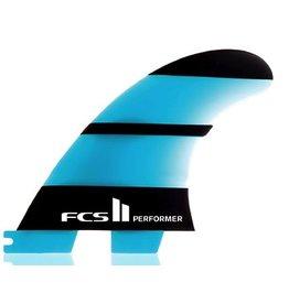 FCS FCS II Performer Neo Glass Tri Set Small Thruster Surfboard Fins