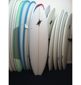 "Starr Surfboards STARR 6'6"" x 22 1/4 x 2 7/8 Q5 Surfboard White Fish New"