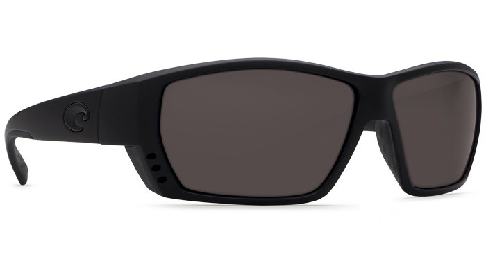 COSTA Costa Del Mar Tuna Alley Blackout Gray 580P Sunglasses