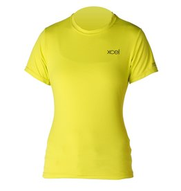 XCEL Xcel Ibiza S/S Rashguard UV Protection Lemon Womens Size 8