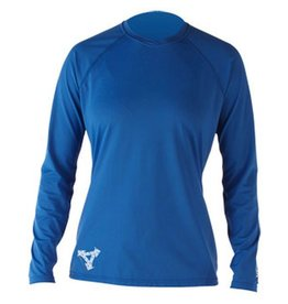 XCEL Xcel Ventx Varsity L/S Rashguard UV Protection Deep Coblat Womens Size Medium