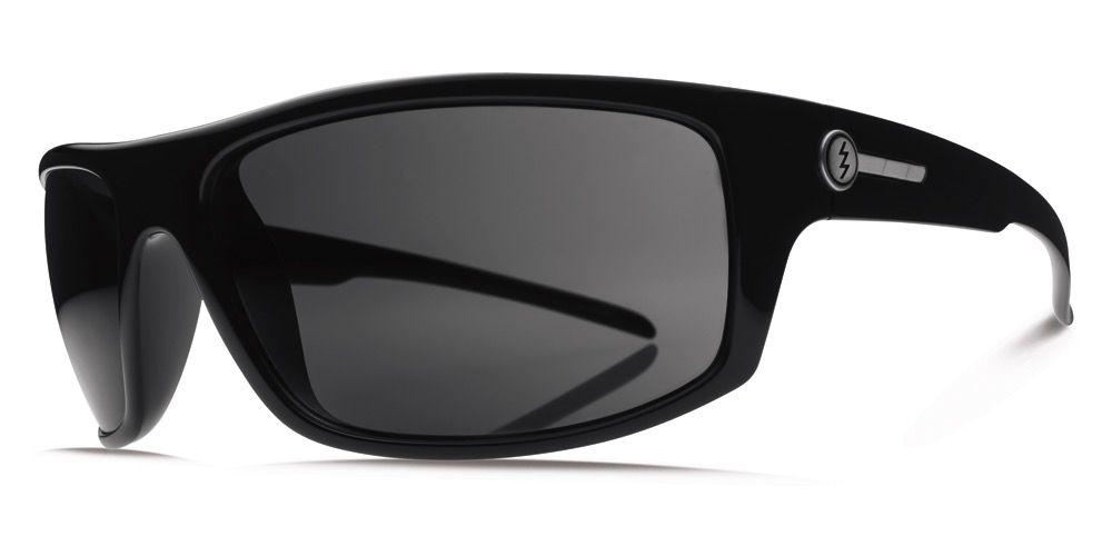 Electric Visual Electric Tech One Gloss Black Frame Melanin Grey Polarized Sunglasses