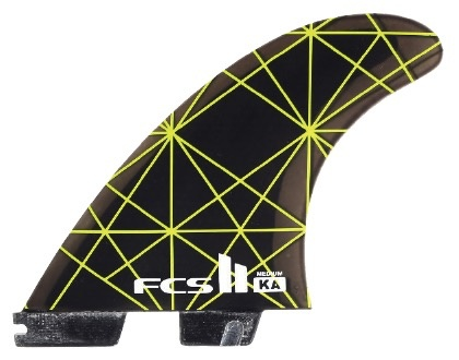 FCS FCS II KA PC Tri Set Medium Thruster Surfboard Fins Kolohe Andino