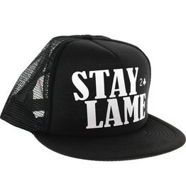 Lowcard Lowcard Stay Lame Standard Mesh Hat Adjustable Black