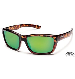 Suncloud Suncloud Mayor Sunglasses Frame Tortoise Lens Green Mirror Polarized Polycarbonate