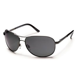 Suncloud Suncloud Avaitor Gunmetal Lens Gray Polarized Polycarbonate Sunglasses