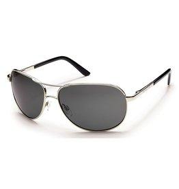 Suncloud Suncloud Aviator Sunglasses Silver Lens Gray Polarized Polycarbonate