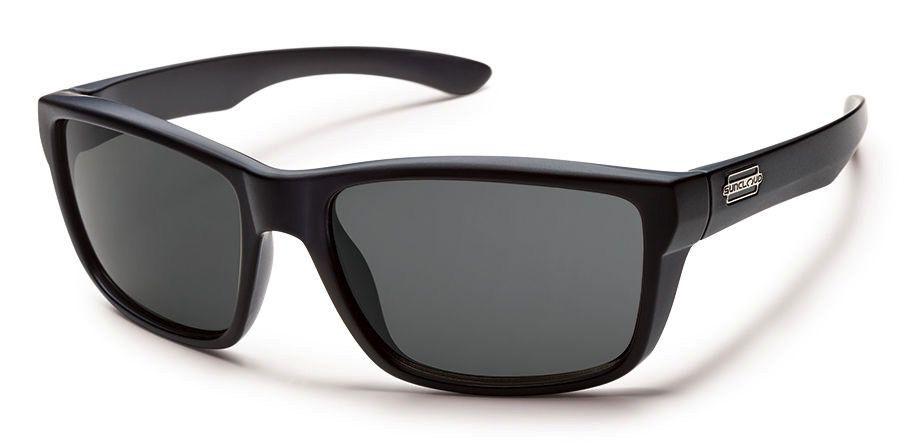 Suncloud Suncloud Mayor Sunglasses Matte Black Lens Gray Polarized Polycarbonate