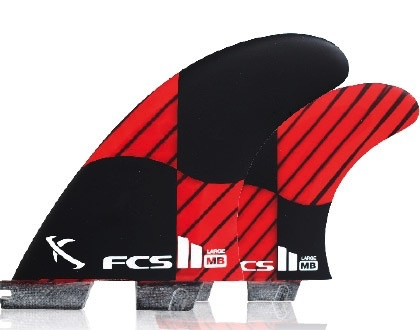 FCS FCS II MB PC Carbon Tri-Quad Set Surfboard Fins Matt Mayhem Biolos