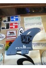 FCS FCS II Carver GF Tri Set Large Pit Surf Shop Edition Surfboard Thruster Fins